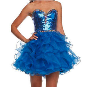 NWT strapless sequin prom dress